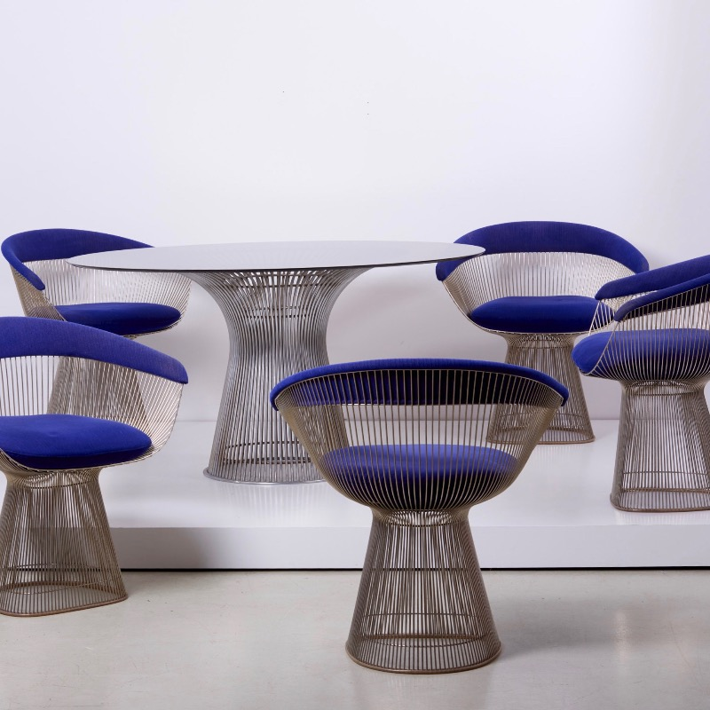 Wire Dining Set by Warren Platner for Knoll