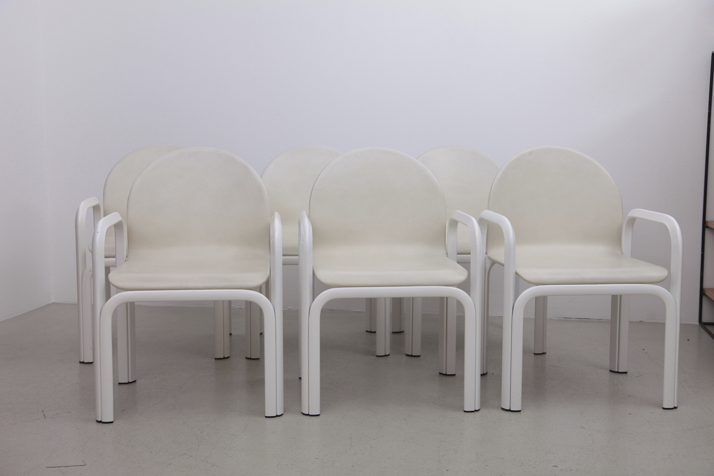 Set of Six 54A Arm Chairs by Gae Aulenti for Knoll
